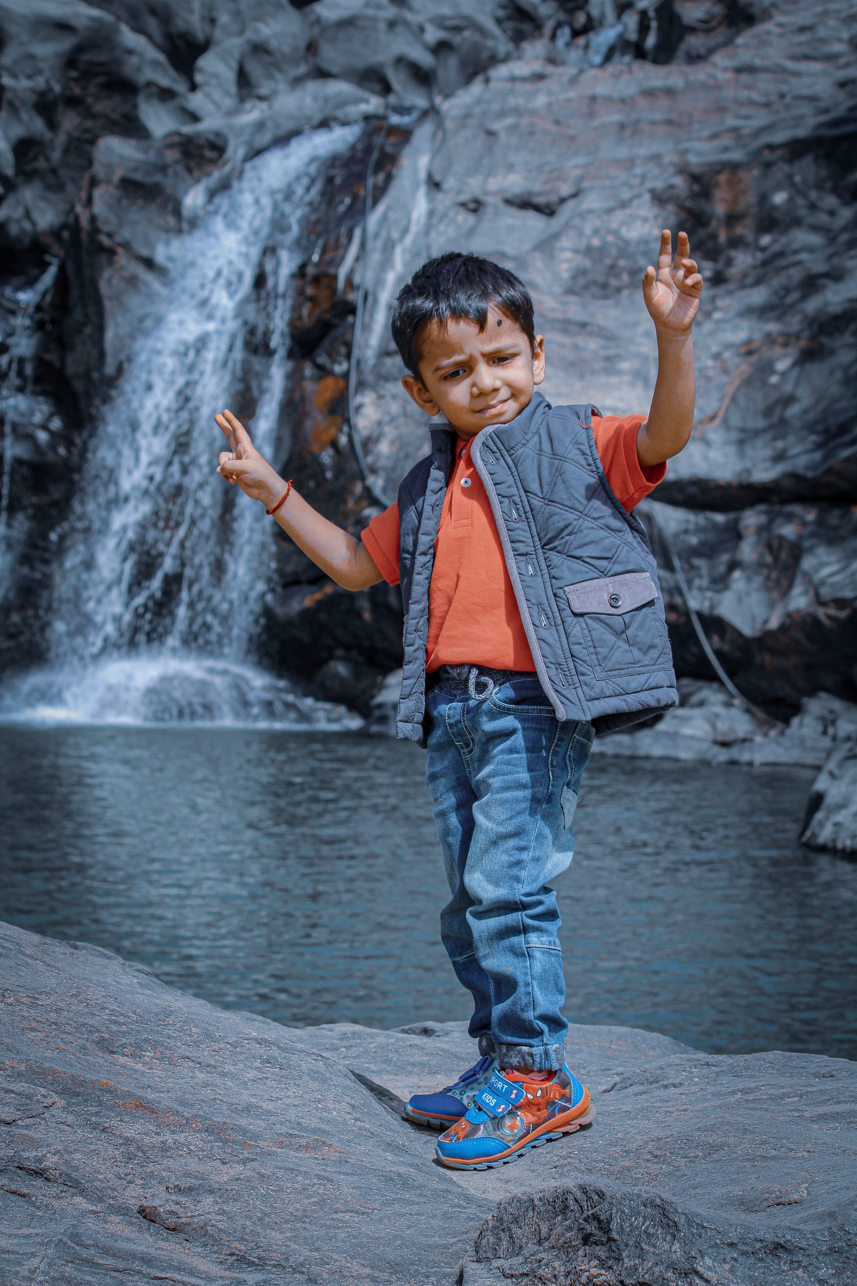 A dancing kid