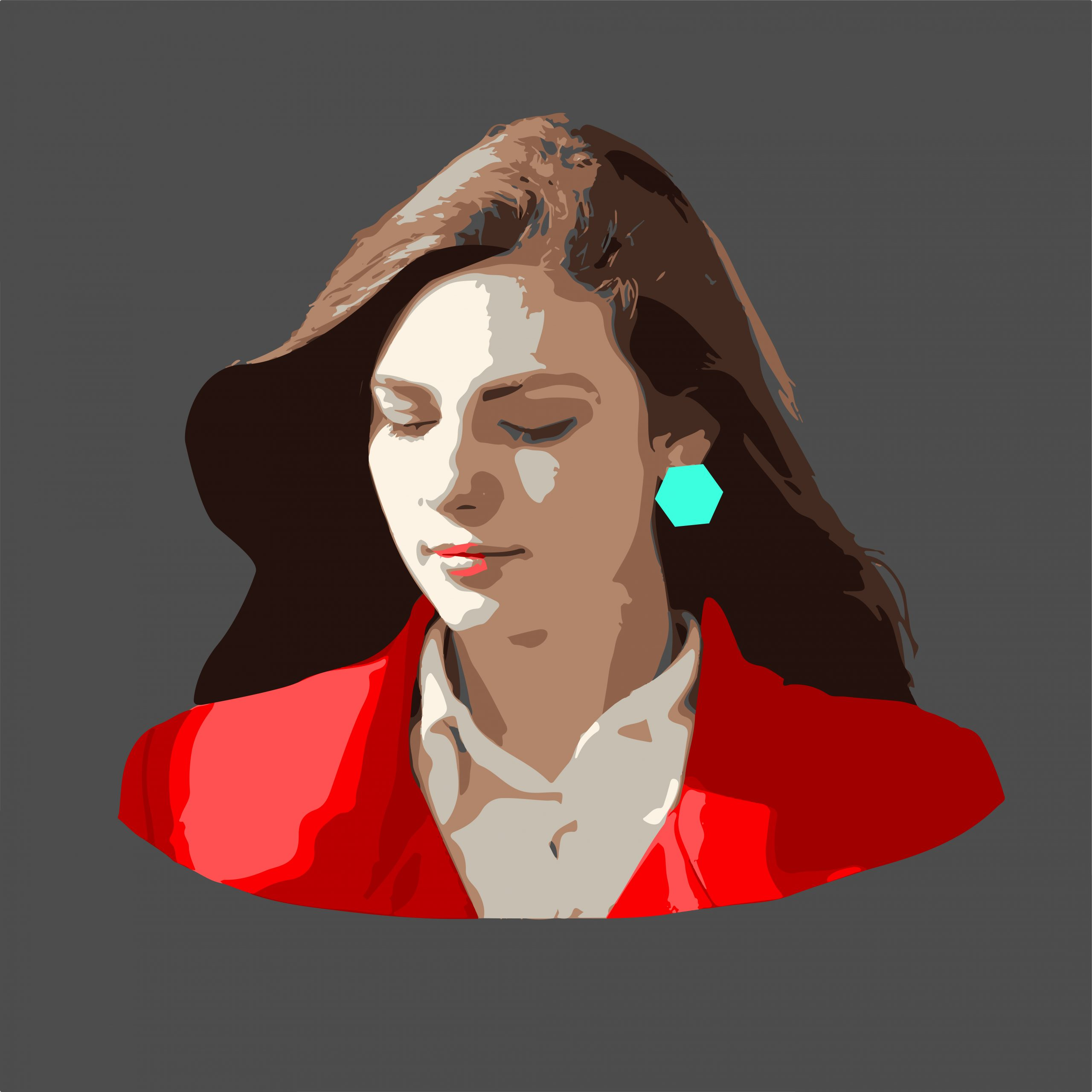 A stylish girl illustration