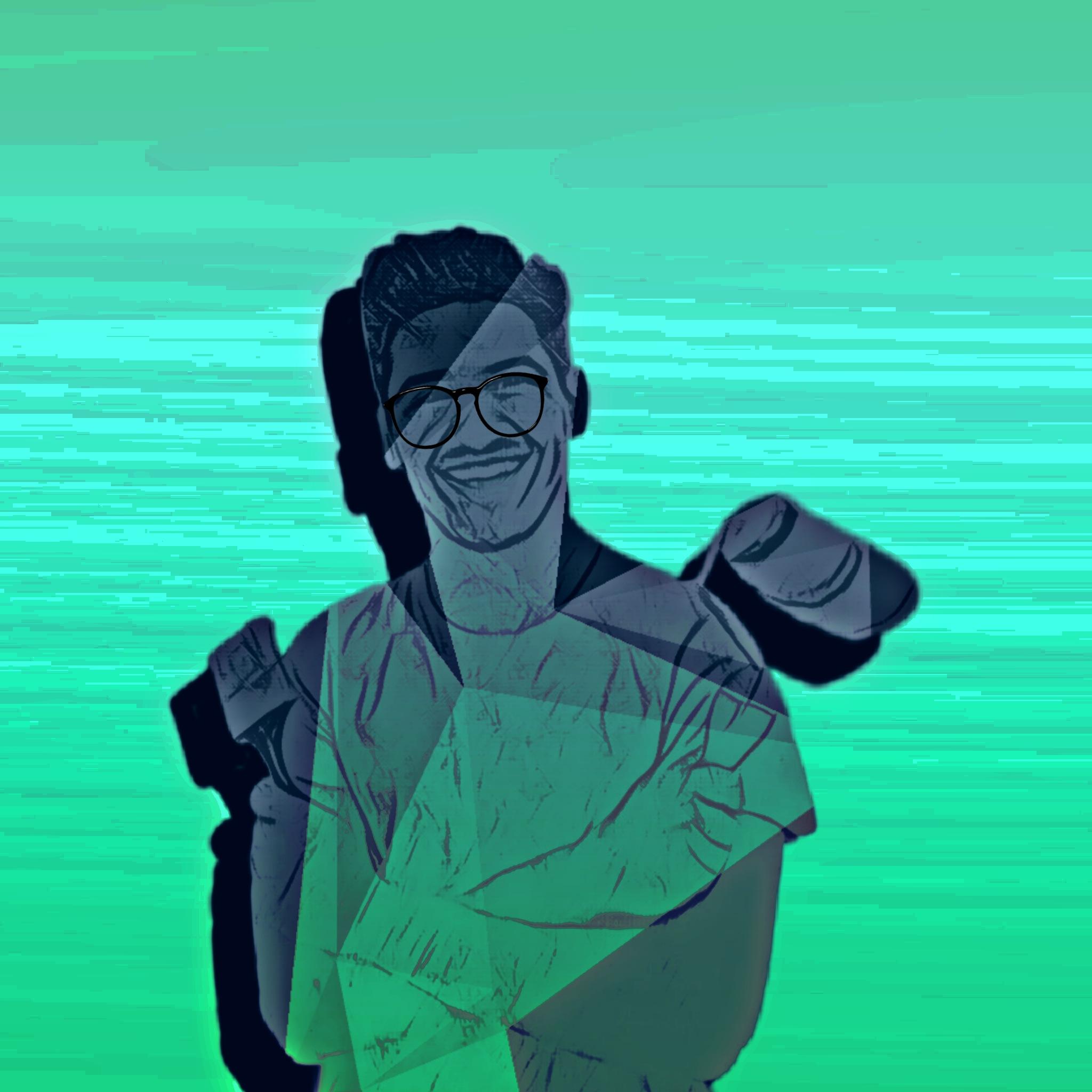 Boy face portrait illustration
