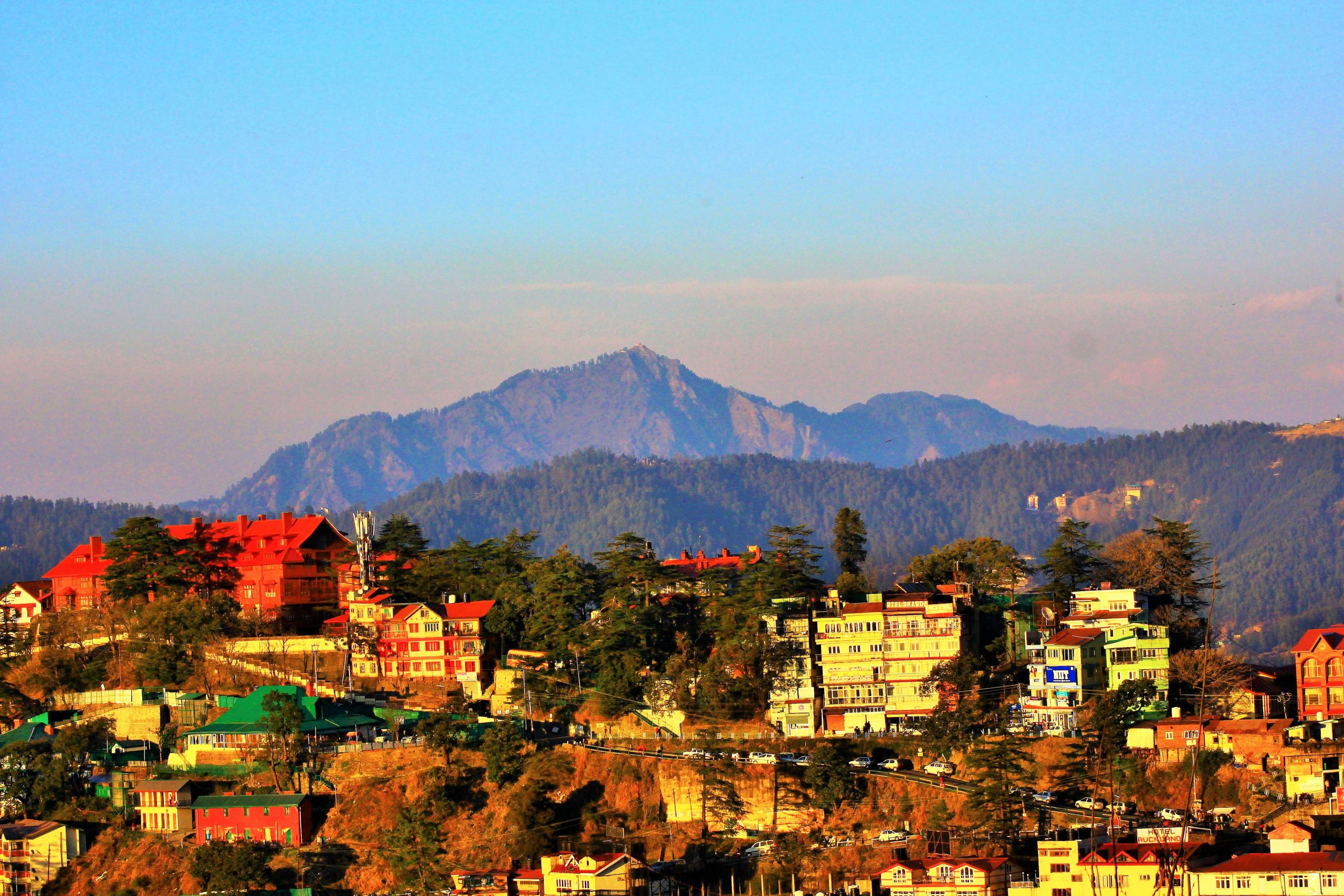 A hill town in Shimla