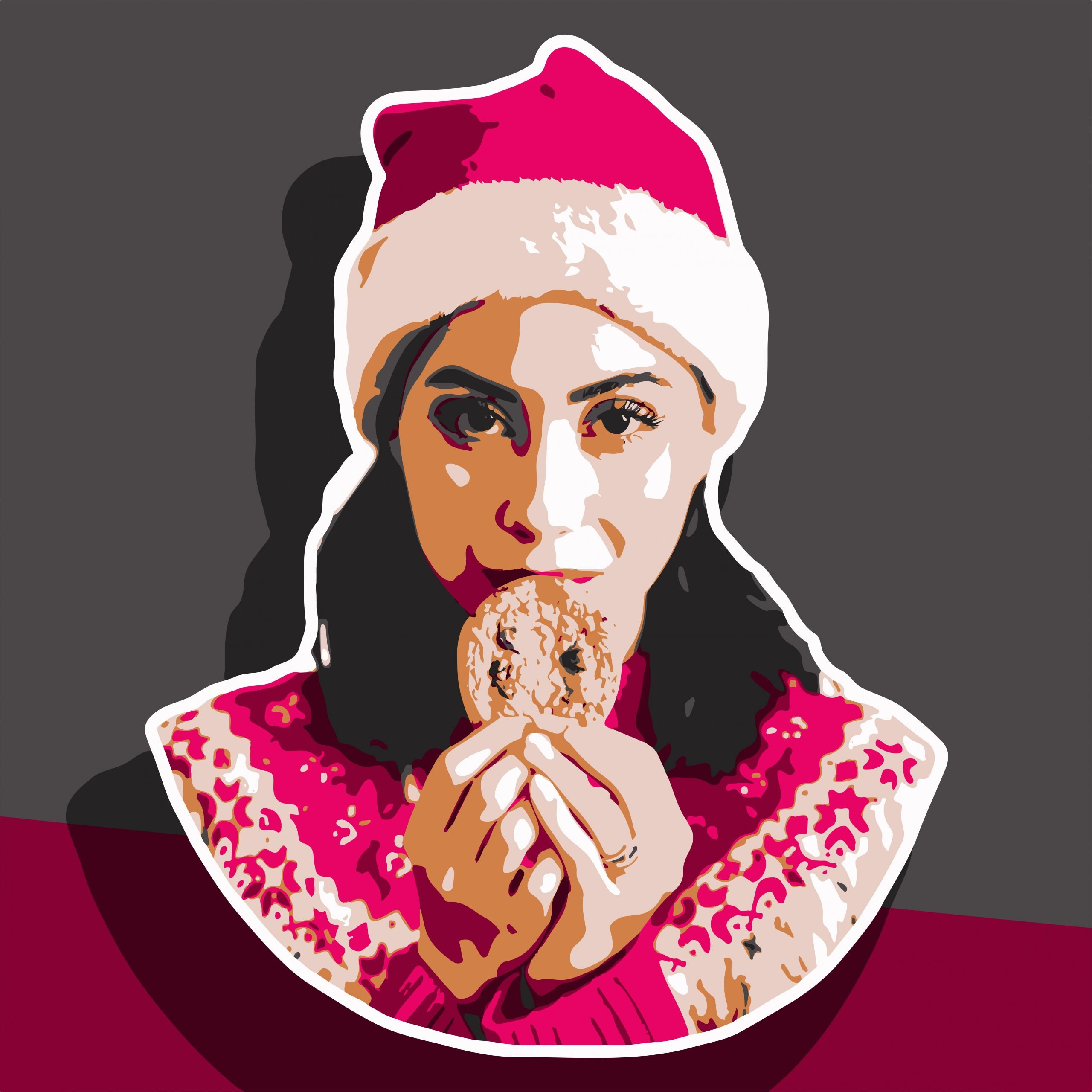 Creative girl portrait illustration