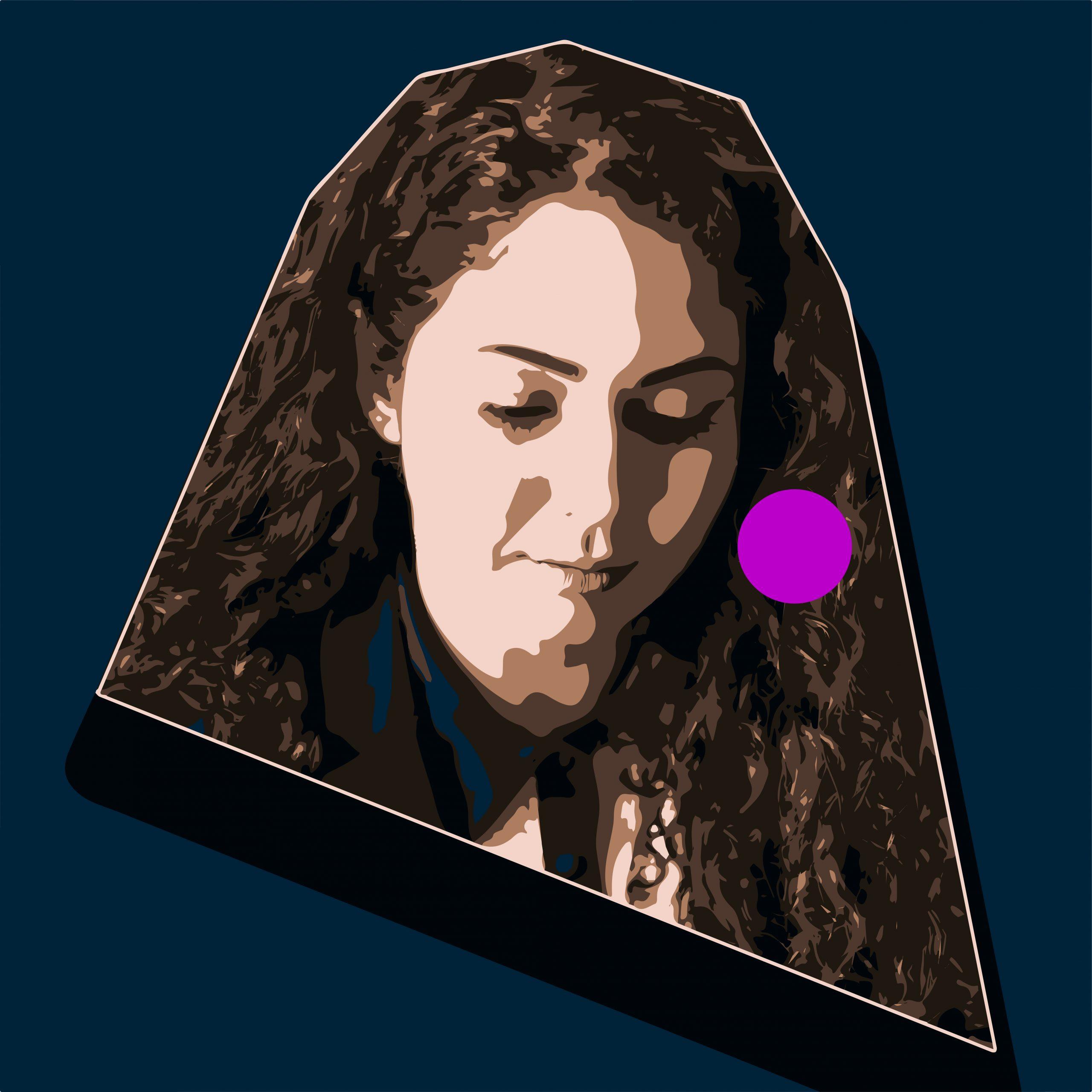 Creative Girl face Portrait Illustration