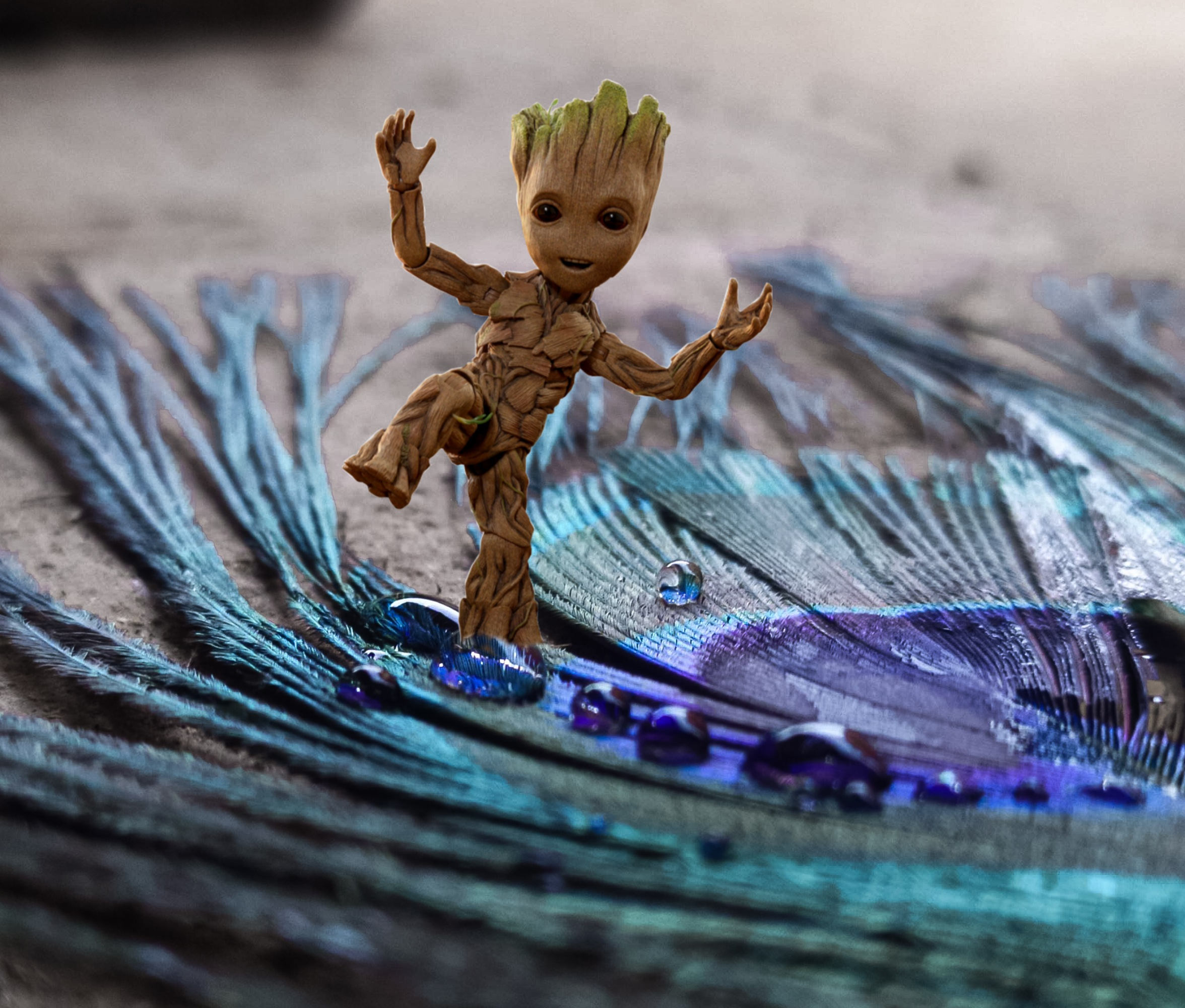 Drops on Groot character