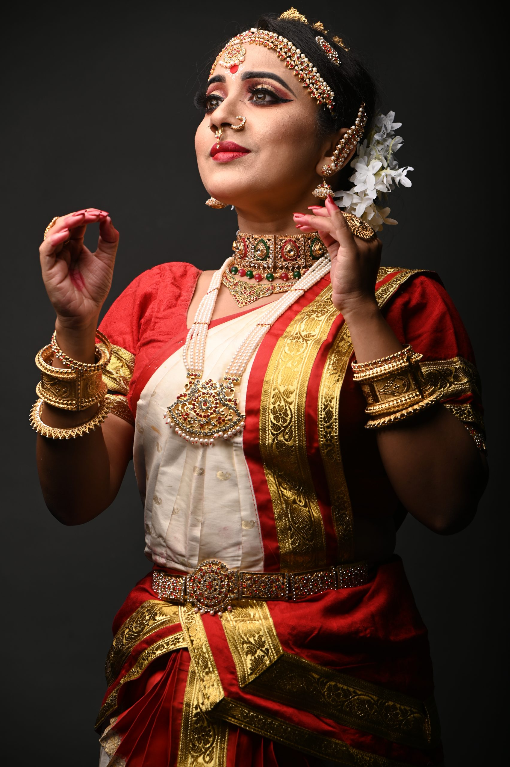 Expression of beautiful dancer