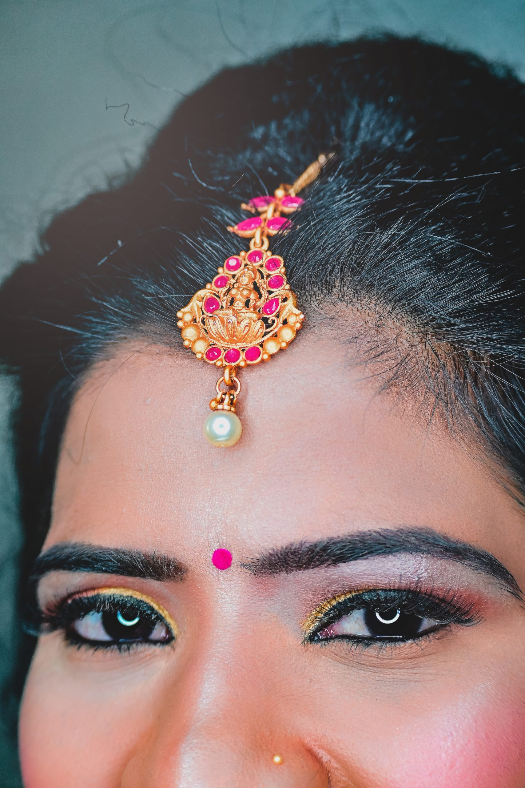 Eyes and jewelry of a woman