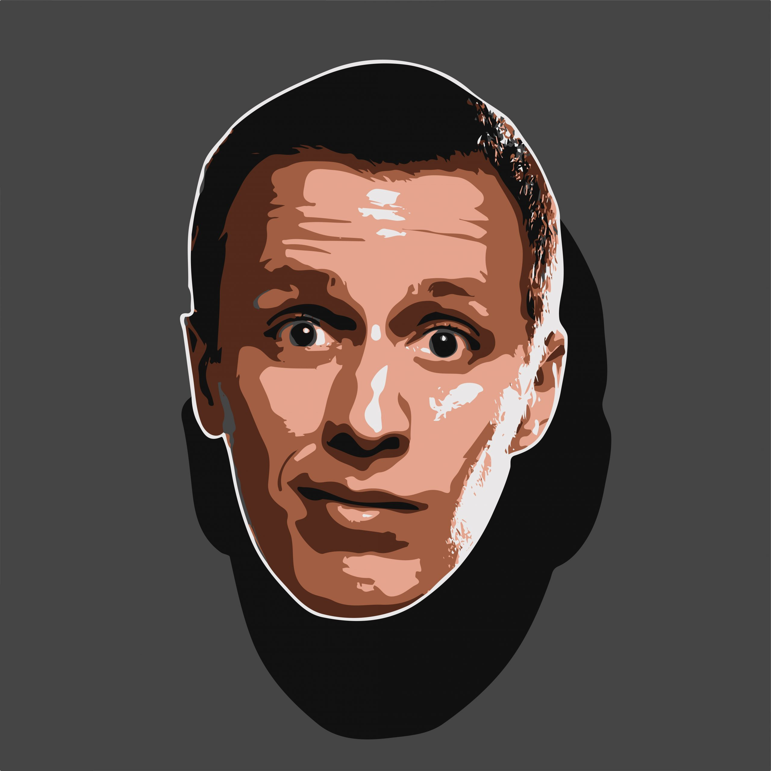 Funny man Face Illustration