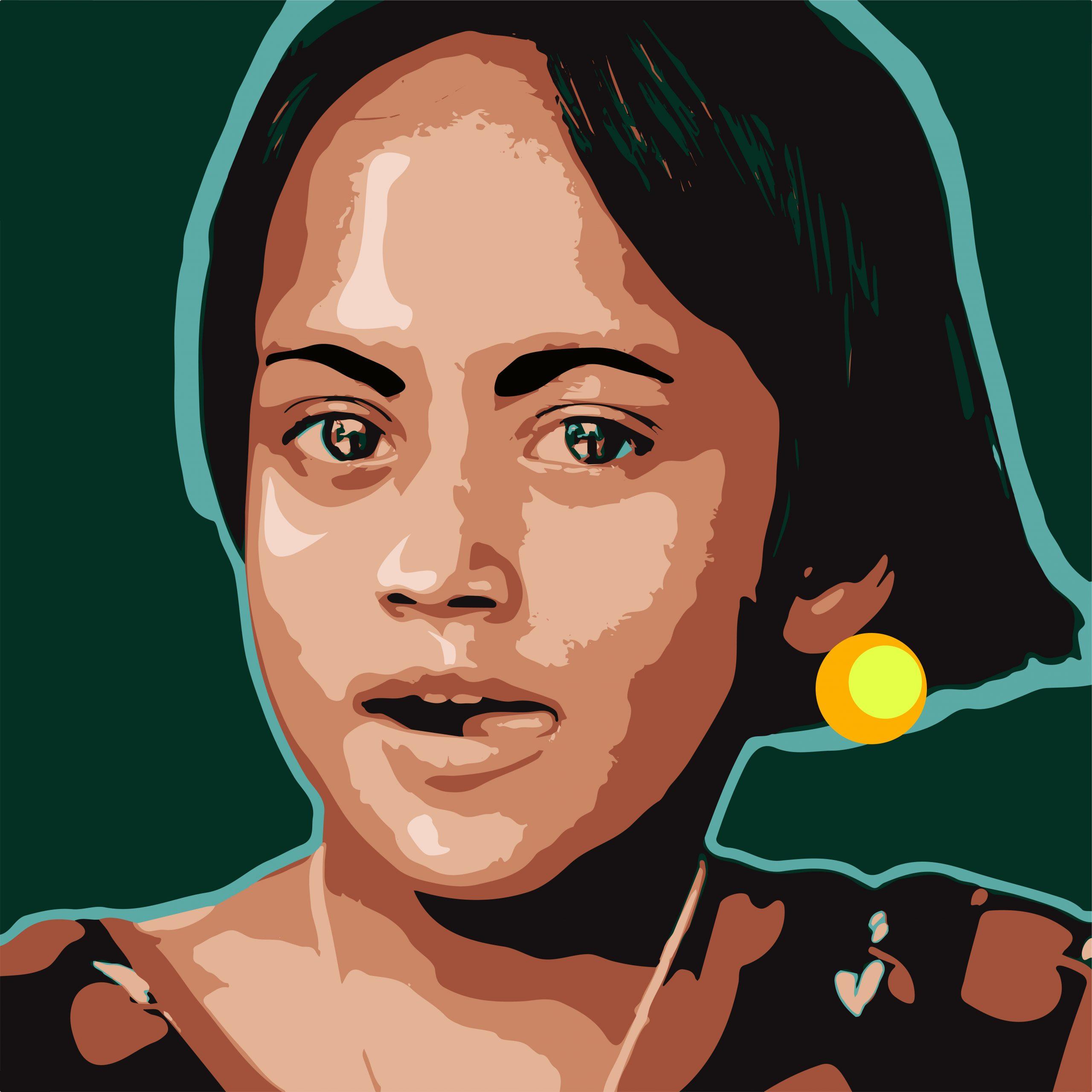 Lady face Portrait Illustration