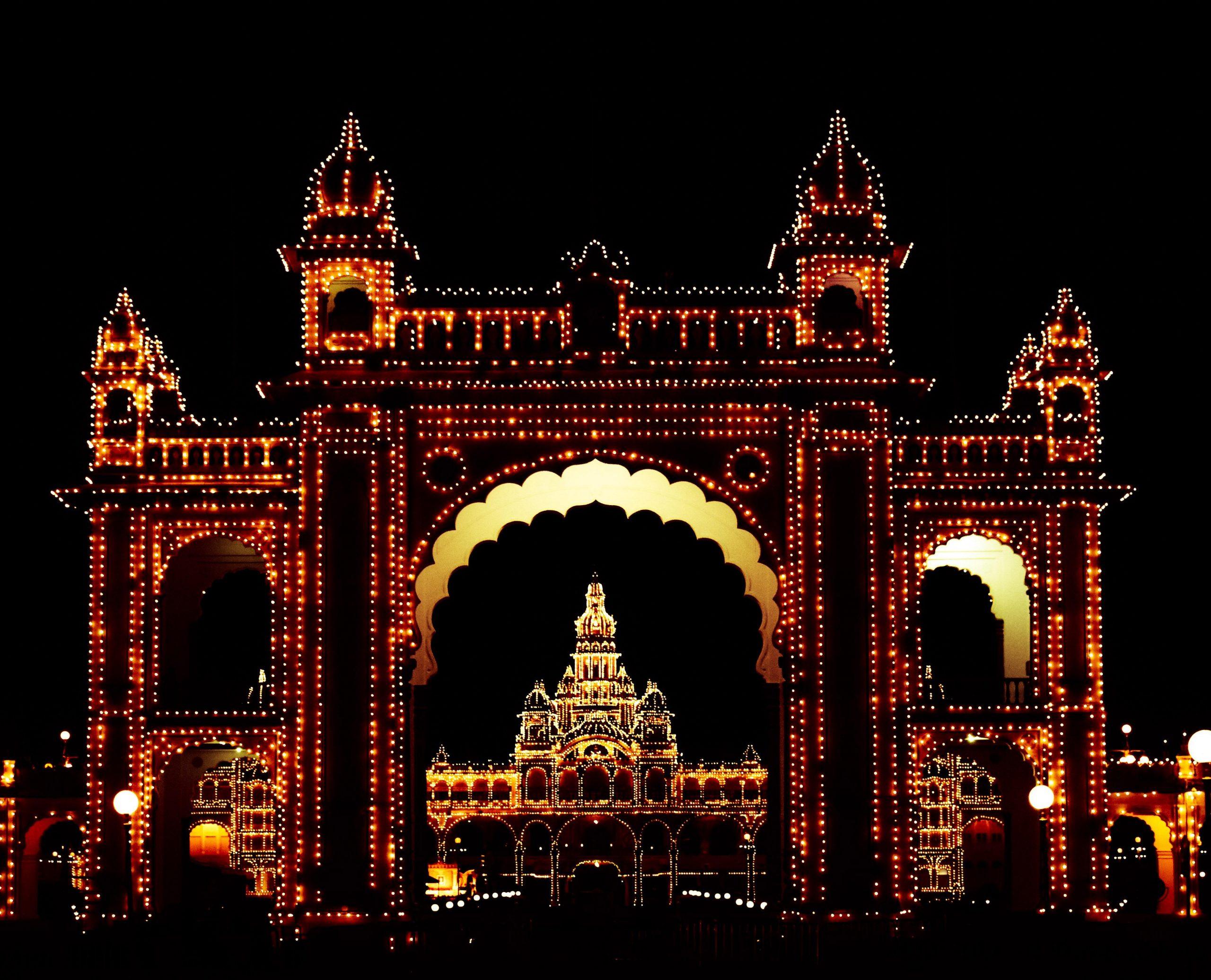 Lighting of Mysore palace