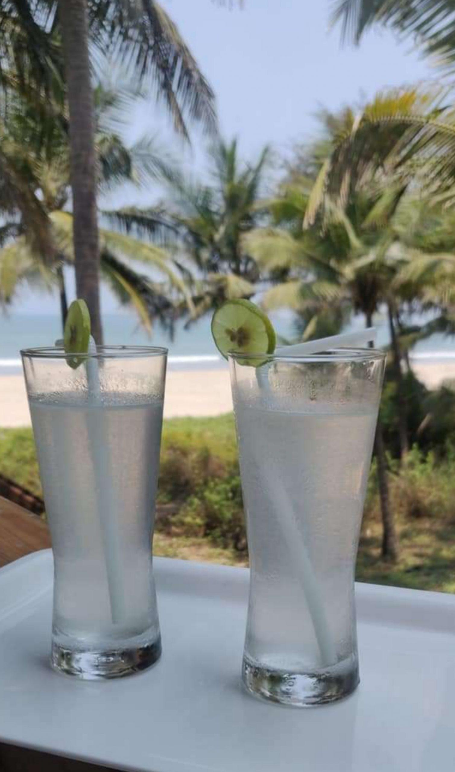 Lemon juice glasses