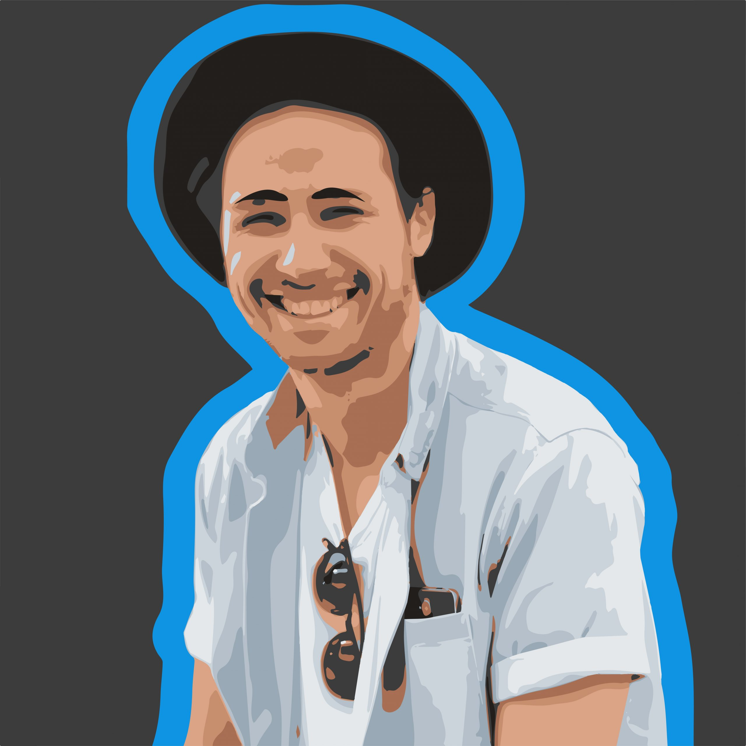 Smiling boy face illustration