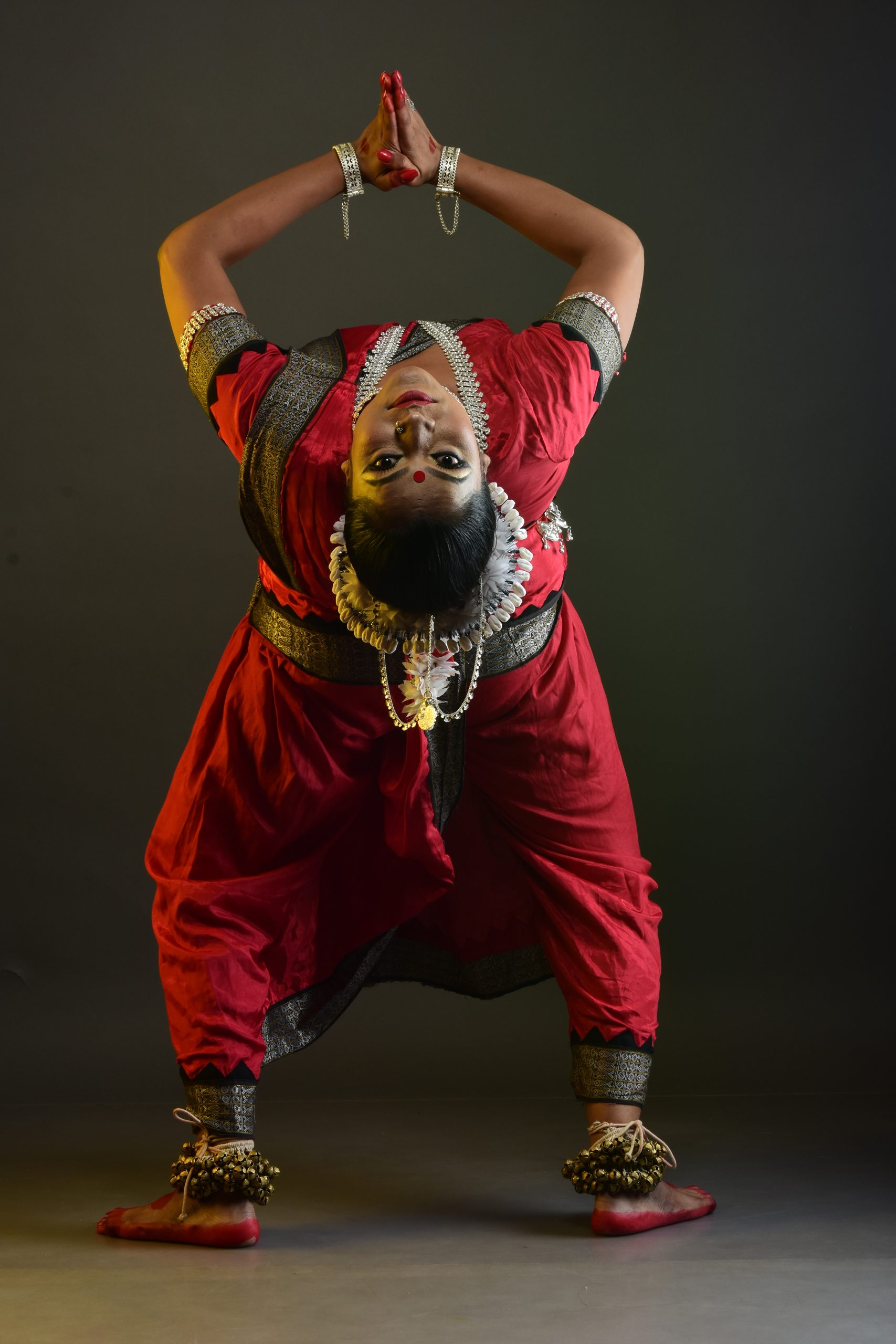 The upturn pose by a dancer