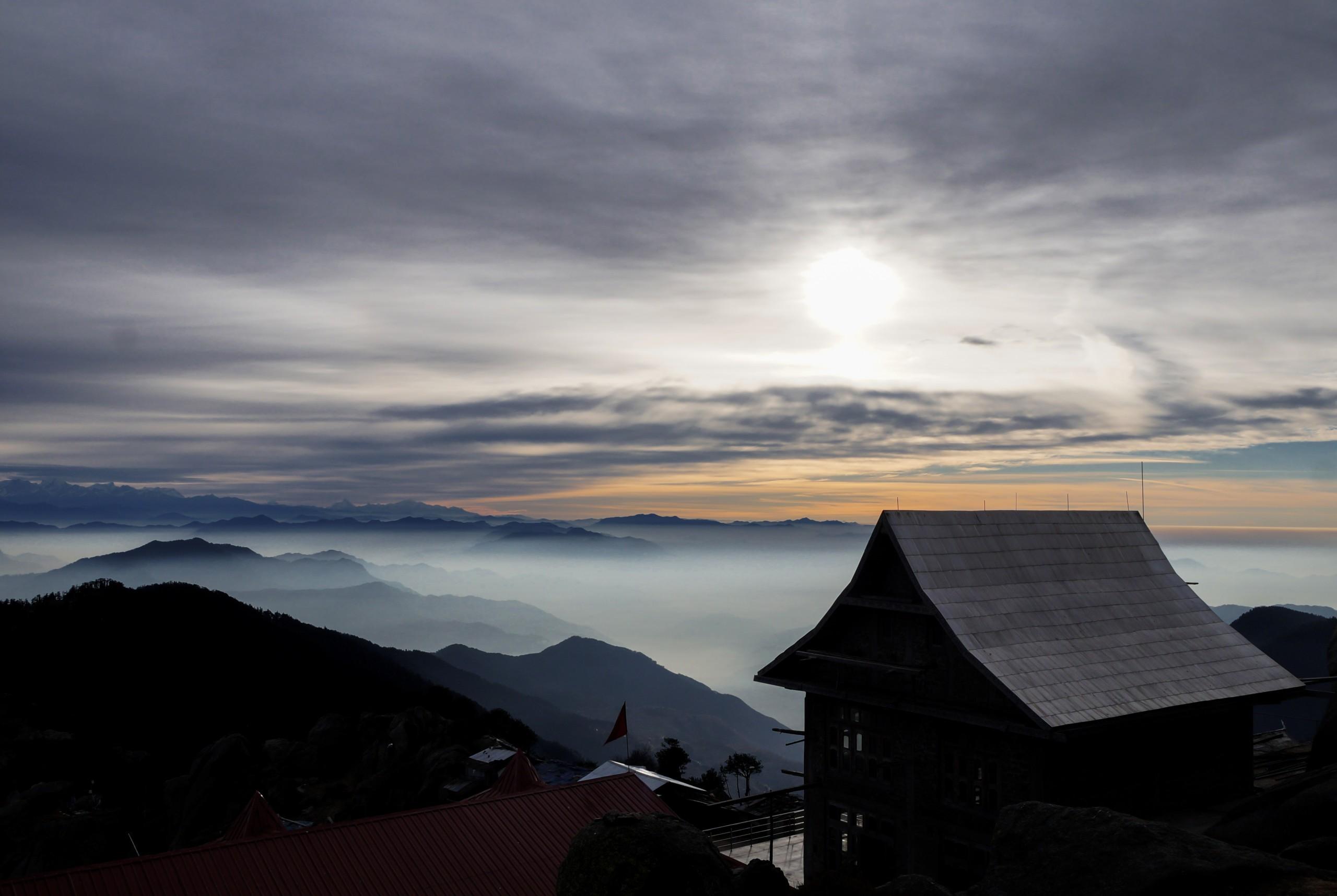 Beautiful Mountains and Hut