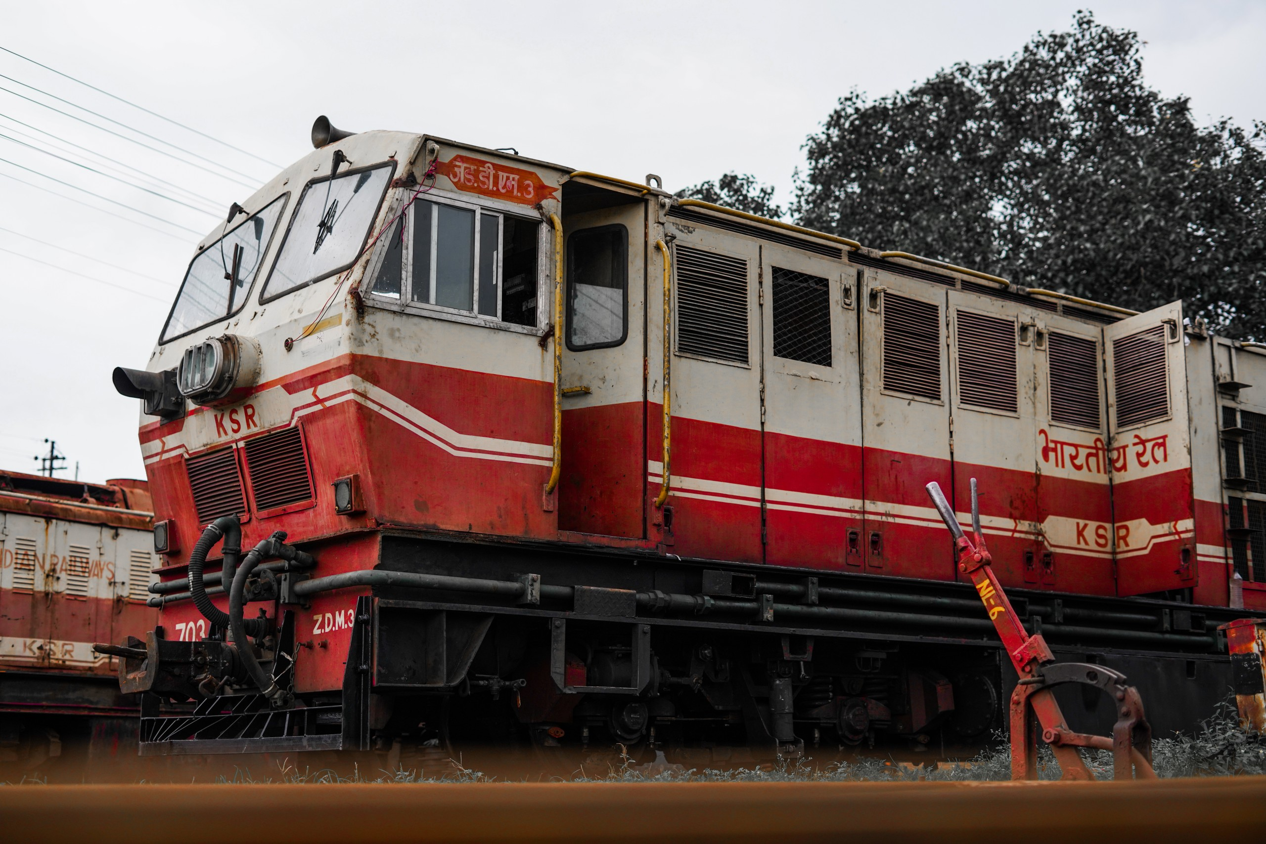 One Indian Rail Engine
